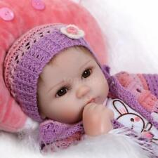16 inches Reborn  Doll Girl Silicone Eyes Open With Clothes Hair Baby Doll