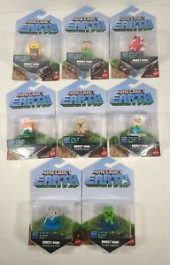 Lot of 8 Minecraft Earth Boost Mini Action Figures Toys New Sealed No Dups