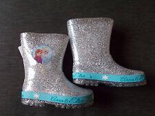 M&S Disney's Frozen Glitter Stivali in dettaglio UK 5 EU21.5 ARGENTO MIX NUOVO CON ETICHETTA