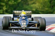 Ayrton Senna JPS Lotus 98T Hungarian Grand Prix 1986 Photograph 1