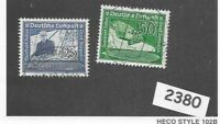 Complete Stamp set / 1938 Graf Zeppelin & Hindenburg / Germany / Third Reich era
