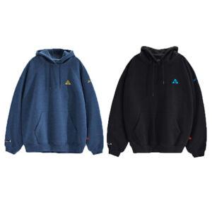YONEX Unisex Overfit Fleece Hoodie Long Sleeve Badminton Black/Navy 213TH002U