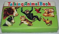 Vintage ~Book in Box ~ Talking Animal Book~ Squeaker in each page ~ Japan~7 1/4""