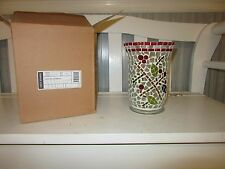 Longaberger Holly Berry Mosaic Candle Holder Ships next day