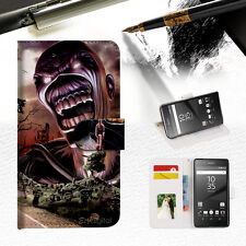 Iron Maiden Wallet TPU Case Cover For Sony Xperia XZ-- A014