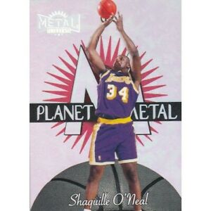 SHAQUILLE O'NEAL 1997 SKYBOX METAL UNIVERSE PLANET METAL 4 OF 15