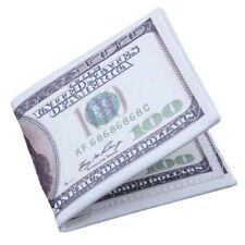 "LEATHER BI-FOLD Men's Wallet ~ BENJAMIN FRANKLIN 100 DOLLAR BILL ~ ""BRAND NEW"""
