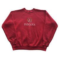 Vintage Indiana University Hoosiers Sweatshirt Mens Large 90s College Pullover