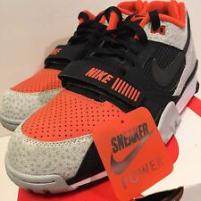 Nike Air Trainer 2 PRM QS Black Orange 632193-002 Size 11 Barry Sanders Safari