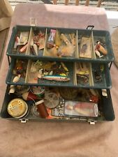 Vintage Tackle Box With Lures