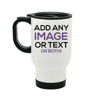 Personalised Thermal Travel Mug Cup Flask - Image Text Photo Christmas Gift