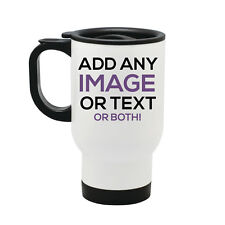 More details for personalised thermal travel mug cup flask - image text photo christmas gift