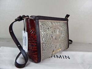 PERFECT NWT BRAHMIN CARRIE🌴HEMLOCK WESTWOOD Crossbody PECAN LEATHER SOLD OUT
