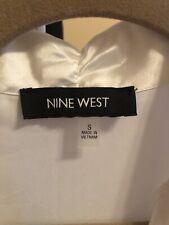 Womens Nine West White silk satin top Size S