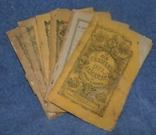Lot of 6 Farmer's Almanac 1877, 1890, 1891 (2), 1893, 1894