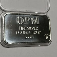 Ohio Precious Metals OPM 1 Troy Oz .999 Fine Silver Ingot Medal Collectible Bar