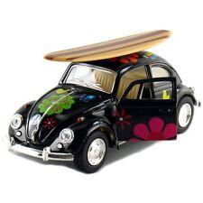 Kinsmart 1967 Volkswagen Beetle Decal w/Surfboard Diecast Model 1:32 VW BLACK