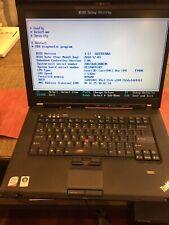 Lenovo ThinkPad T500 Core 2 Duo T9400 2.53GHz 4GB RAM 160GB HD Windows 7 No Batt