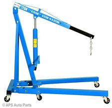 1 Ton Tonne Hydraulic Folding Engine Crane Hoist Lift Stand Wheels 1000kg Garage