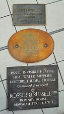 3 Antique 19t & 20th C Bronze & Brass Plaque Sign W1 & SW1 Famous Co. & Inventor