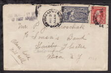 """USA c1922 SPECIAL DELIVERY STAMP on COVER - HANDSTAMPED """"FEE CLAIMED"""" (L185)"""