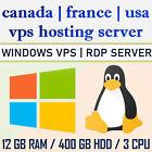 REMOTE DESKTOP SERVER / LINUX WINDOWS VPS SERVER  12 GB RAM + 400 GB HDD
