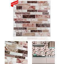 5/10pcs Peel and Stick Vinyl Tiles 12x12'' Backsplash for Kitchen Bathroom Wall
