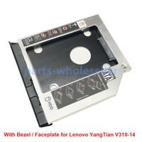 2nd HDD SSD Hard Drive Caddy for Lenovo V310-14 ISK IKB IBR AST with Faceplate