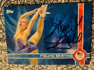 GRACIE GOLD AUTOGRAPHED SKATING CARD