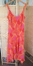 M&S Per Una Summer Long Dress Orange Paisley Asymmetric Hem BNWT RRP £39.50
