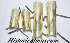 300 MOVIE SPARTAN ARMOR BRASS LEG GUARD G55S2ES  ARM GUARD SET HALLOWEEN COSTUME
