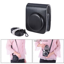 Vintage PU Camera Bag for Fujifilm Instax Mini 90 Instant Film Camera Black I7J6