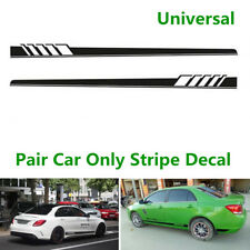 Pair Car Graphics Both Side Body Vinyl Sticker Sports Racing Long Stripe Decals