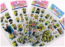 5 x Assorted Sheets of Minions Stickers - Cute Designs,kids party favours