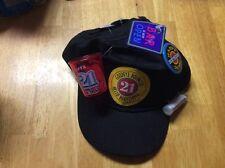 21st BIRTHDAY NOVELTY HAT CAP GOODBYE BOUNCER HELLO BARTENDER SNAP BACK NWT