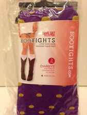 Bootights - Gameday Collection - Darby's Boot Socks - 2 Pairs - Purple/Gold