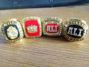 New Collection : 4Pcs  Muhammad Ali Best Heavyweight Boxer Championship Ring