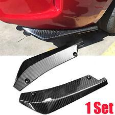 2Pcs Carbon Fiber Car Rear Bumper Lip Diffuser Fin Canard Splitter Universal