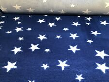 Non Slip Vet Bed Dog Puppy Pet Whelping Fleece Blue White Stars Freepost