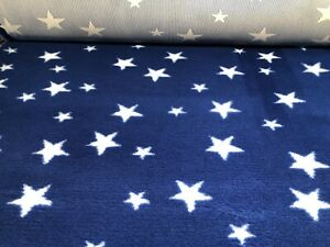 Non Slip Vet Bed Dog Puppy Pet Whelping Fleece Blue White Stars Freepost