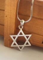 LARGE  Jewish Israel Necklace Magen David Star of David