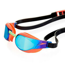 NEW Speedo Fastskin Elite Mirror Goggles – Orange/Green Swimming