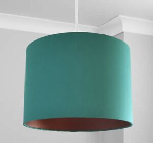 New Stunning HQ Bronze Finish Jade Green   Lamp Shade Pendant 30 Cm