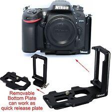 Kameraplatte Griff Schiene Schnellwechselplatte für Kugelkopf Nikon D7200 D7000