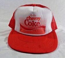 Cherry Coke Trucker Hat Baseball Cap Vintage Snapback