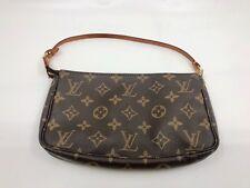 Authentic Louis Vuitton Monogram LV Pochette Wristlet Purse
