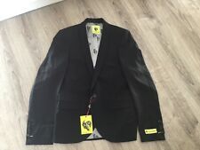 Noose & Monkey Ellroy Skinny Suit Jacket In Black - Chest Size 36R  - New