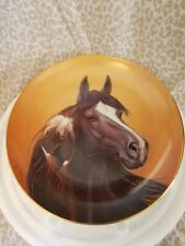 Danbury Mint, A Heritage Of Horses Collection-Black Magic,1993, by D. Hansen