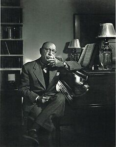 1960s Vintage Igor Stravinsky Portrait Yousuf Karsh Photogravure Photo Print