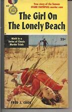 THE GIRL ON THE LONELY BEACH ~ GOLD MEDAL 431 1954 FRED J COOK TRUE CRIME MURDER